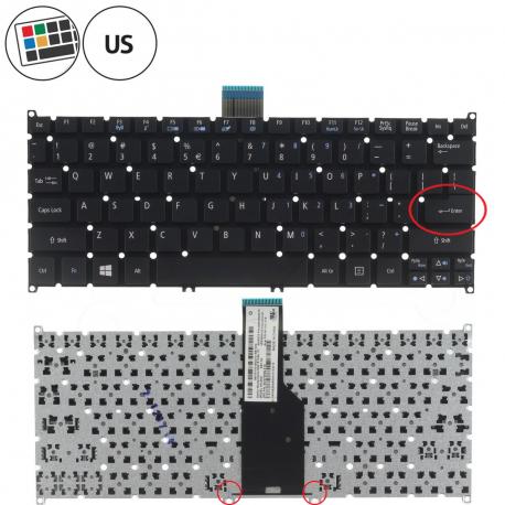 Acer Aspire V5-132p Klávesnice pro notebook - americká - US + zprostředkování servisu v ČR