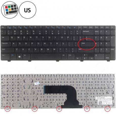 Dell Inspiron 15R-5537 Klávesnice pro notebook - americká - US + zprostředkování servisu v ČR