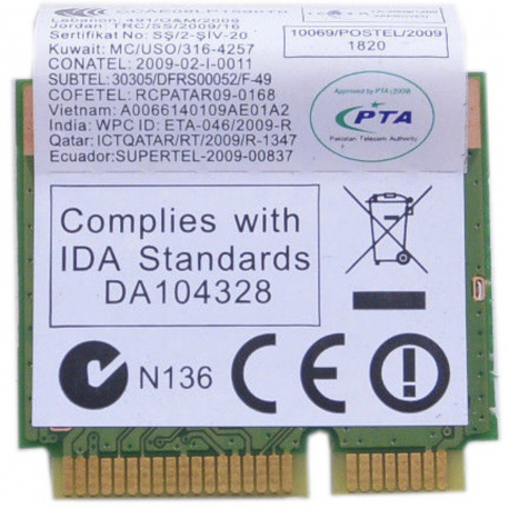 Lenovo IdeaPad Z560 Wifi modul pro notebook + zprostředkování servisu v ČR