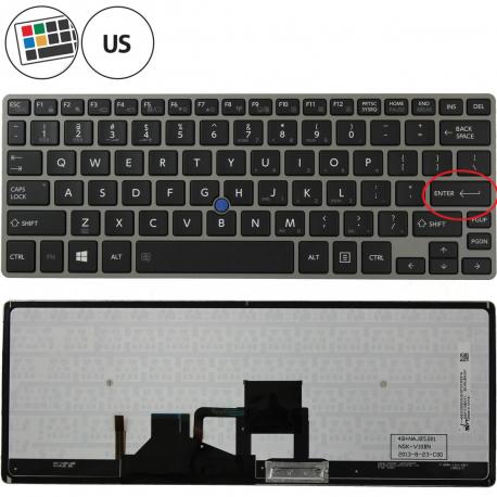 Toshiba Portege Z30-A-12N Klávesnice pro notebook - americká - US + zprostředkování servisu v ČR