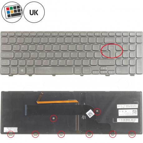 Dell Inspiron 15 7737 Klávesnice pro notebook - anglická - UK + zprostředkování servisu v ČR