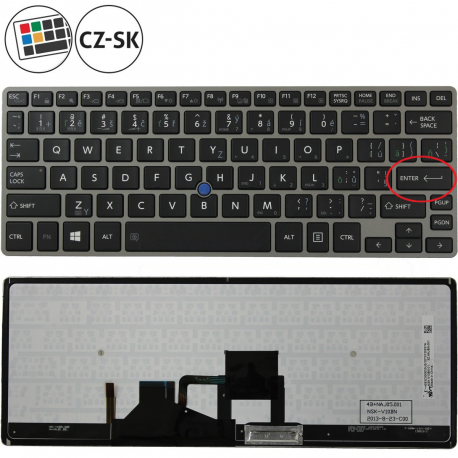 Toshiba Portege Z30-A-120 Klávesnice pro notebook - CZ / SK + doprava zdarma + zprostředkování servisu v ČR