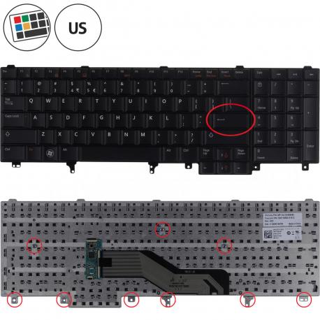 Dell Latitude E6520 Klávesnice pro notebook - americká - US + zprostředkování servisu v ČR