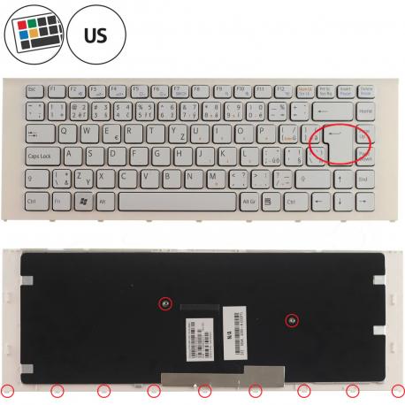 Sony Vaio VPC-EA37ECB Klávesnice pro notebook - americká - US + zprostředkování servisu v ČR