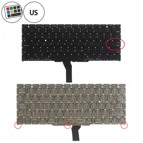 SR1G Klávesnice pro notebook - americká - US + zprostředkování servisu v ČR