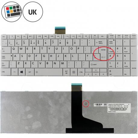 Toshiba Satellite c855-18n Klávesnice pro notebook - anglická - UK + zprostředkování servisu v ČR