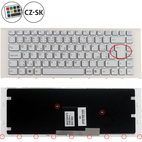 Sony Vaio VPC-EA3L1E Klávesnice pro notebook - CZ / SK + zprostředkování servisu v ČR