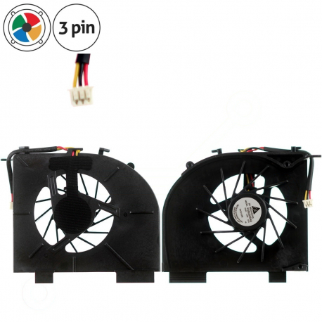 HP Pavilion dv6-1140eg Ventilátor pro notebook - 3 piny vrtule je odkryta 3 díry na šroubky + zprostředkování servisu v ČR