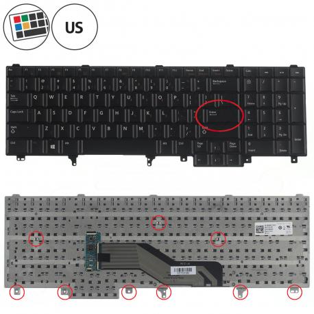 Dell Latitude E5520 Klávesnice pro notebook - CZ / SK + zprostředkování servisu v ČR