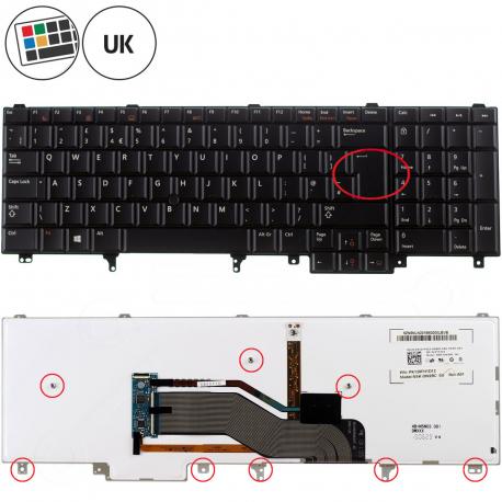 Dell Latitude E5520 Klávesnice pro notebook - anglická - UK + zprostředkování servisu v ČR