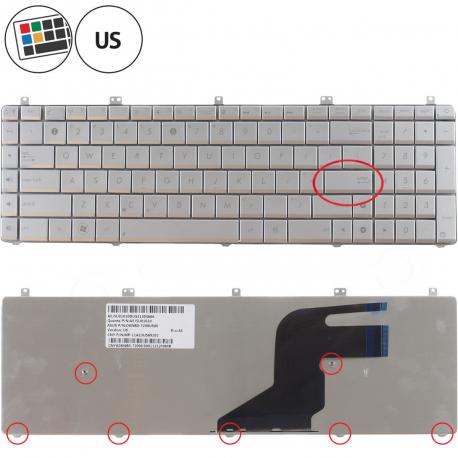 Asus N75SF Klávesnice pro notebook - americká - US + zprostředkování servisu v ČR