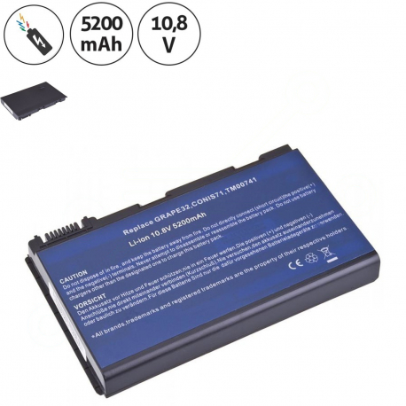 Acer Extensa 5220-051g08mi Baterie pro notebook - 5200mAh 6 článků + doprava zdarma + zprostředkování servisu v ČR