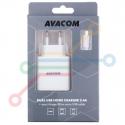 Micro USB, 3,4A, bílý, 80cm